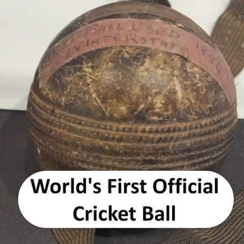 World's first Cricket Ball - thinkwitty.com