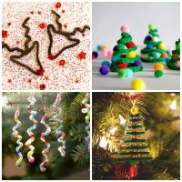 Pipe Cleaner Crafts - Christmas Trees - thinlyspread.co.uk