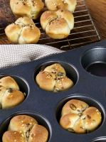 Lucky Clover Leaf Buns for St Patrick's Day