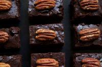 Vegan Pumpkin Brownies with Pecan Nuts