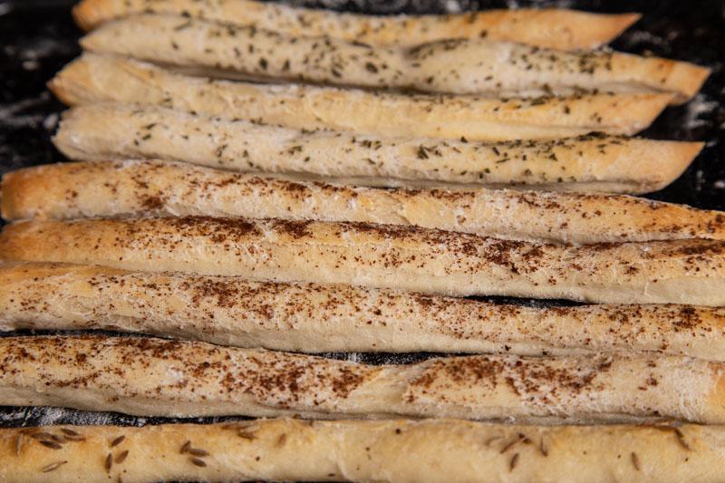 Homemade vegan breadsticks
