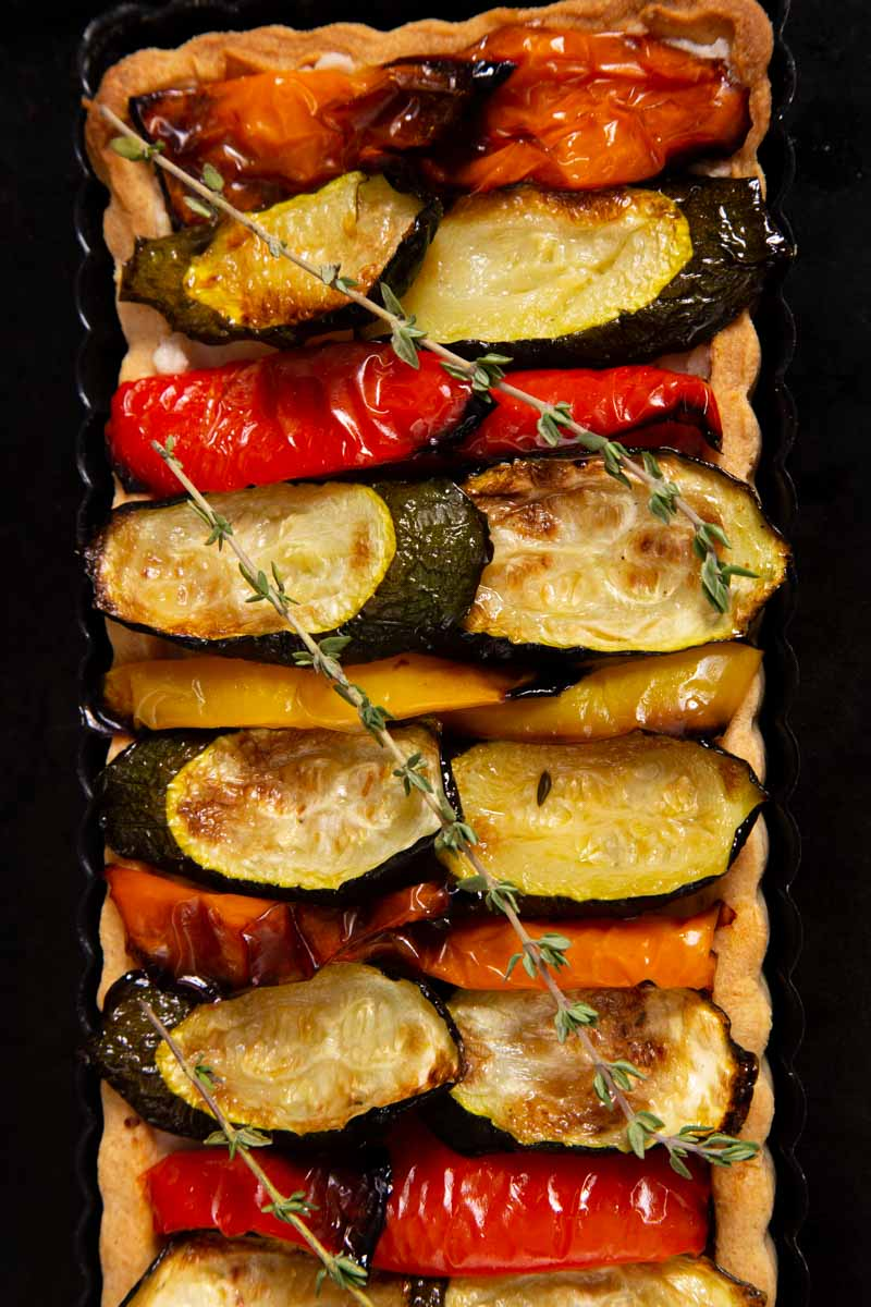 Roasted Mediterranean Vegetable - Vegan Tart