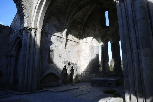 Heart on the wall of Corcomroe Abbey