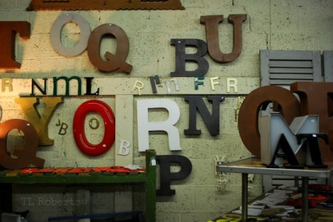 large sign letters