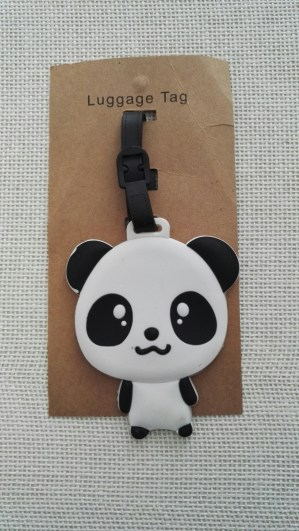 Etiquette baggage panda