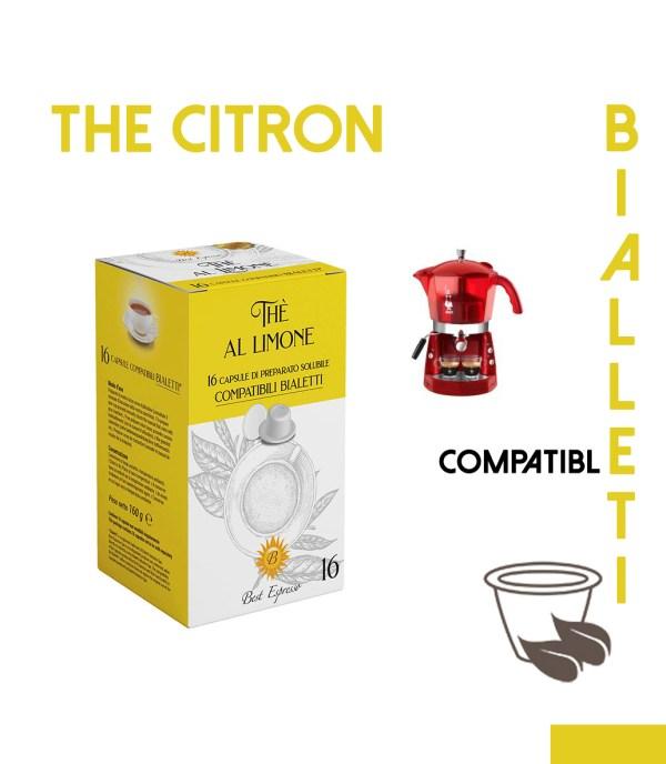 48 CAPSULES DE THÉ CITRON COMPATIBLES BIALETTI