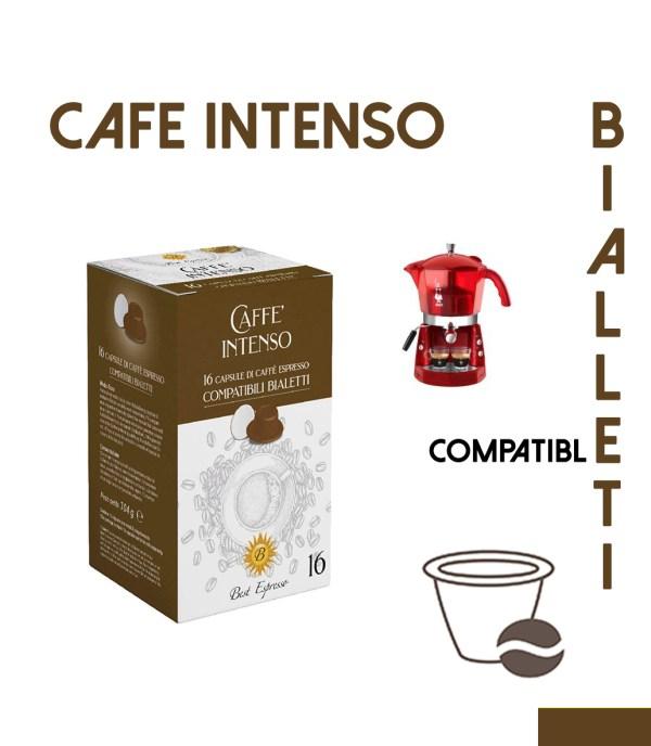 48 CAPSULES DE CAFÉS INTENSO COMPATIBLES BIALETTI