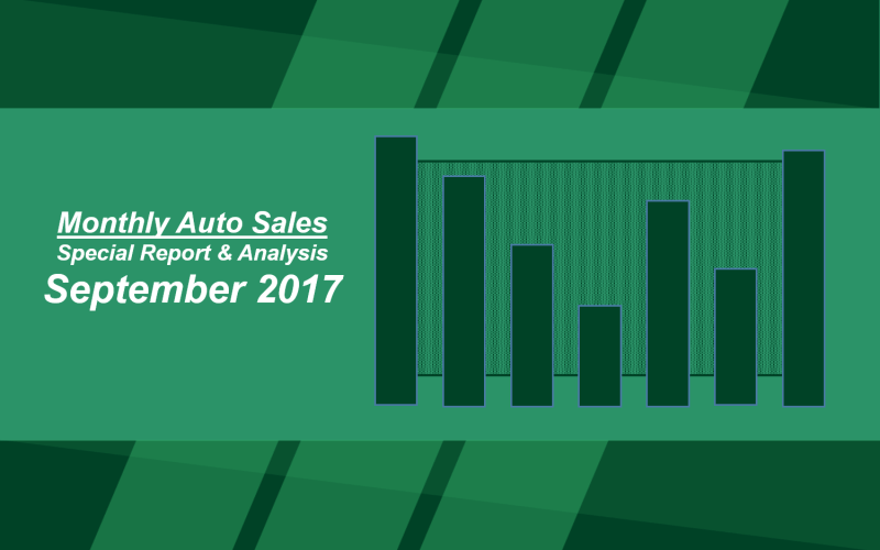 Monthly Sales Results: September 2017