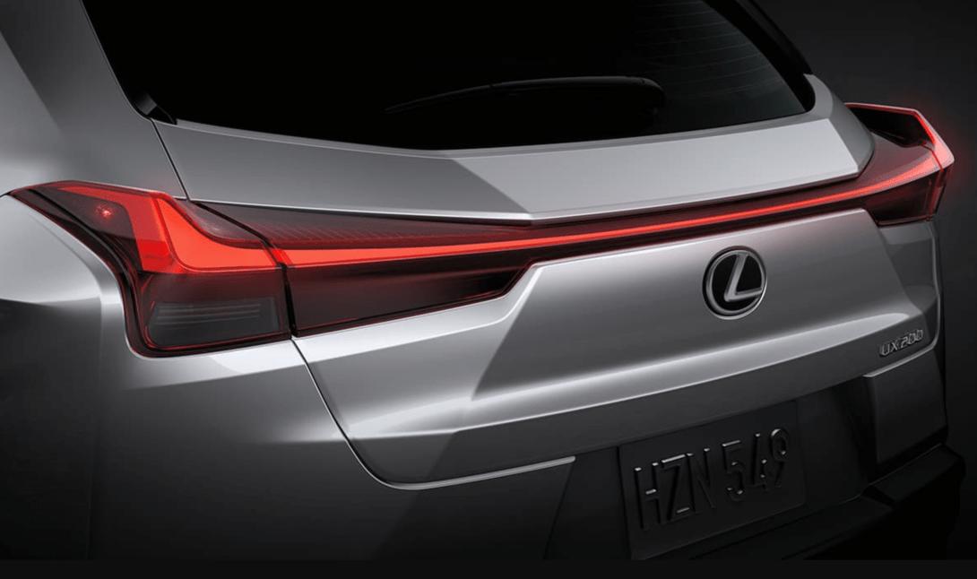 2019 Lexus UX exterior rear