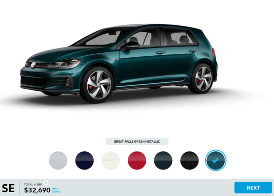 2019 Volkswagen Golf GTI Great Falls Green Metallic
