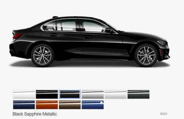 2019 BMW 3 Series colors