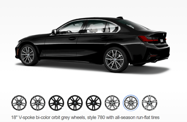 2019 BMW 3 Series wheels