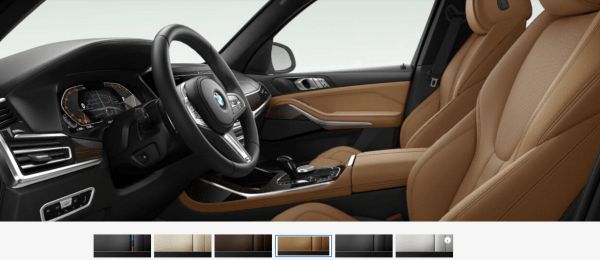2019 BMW X7 Cognac Vernasca Leather