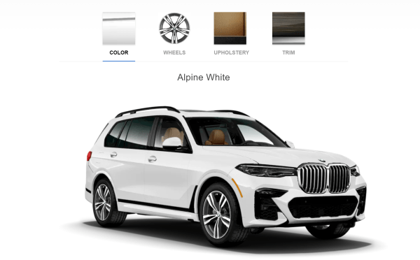 2019 BMW X7 M Sport Alpine White