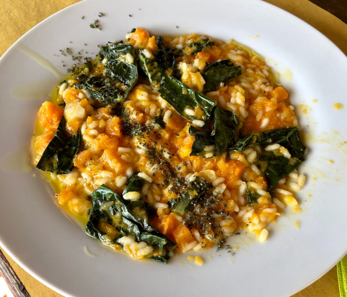 Kale and Squash Risotto