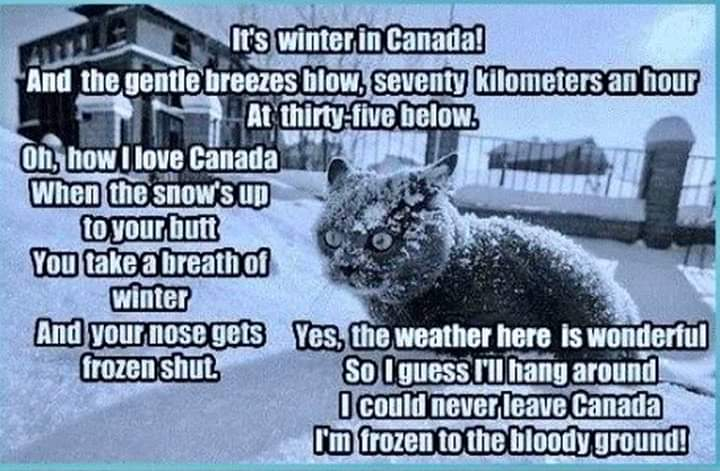 Expectation of Canadian Winter