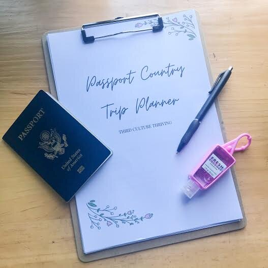 Passport Country Trip Planner
