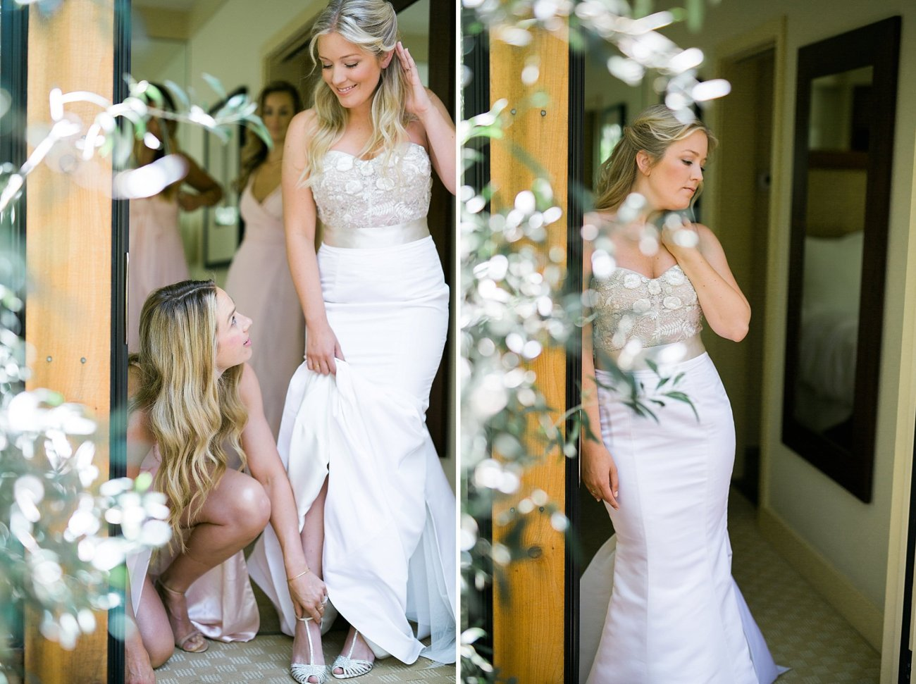 Calistoga Ranch Wedding Photos Monique Lhuillier dress