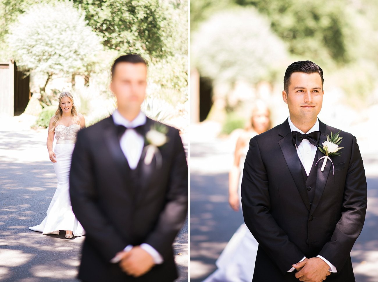 Calistoga Ranch Wedding Photos First Look