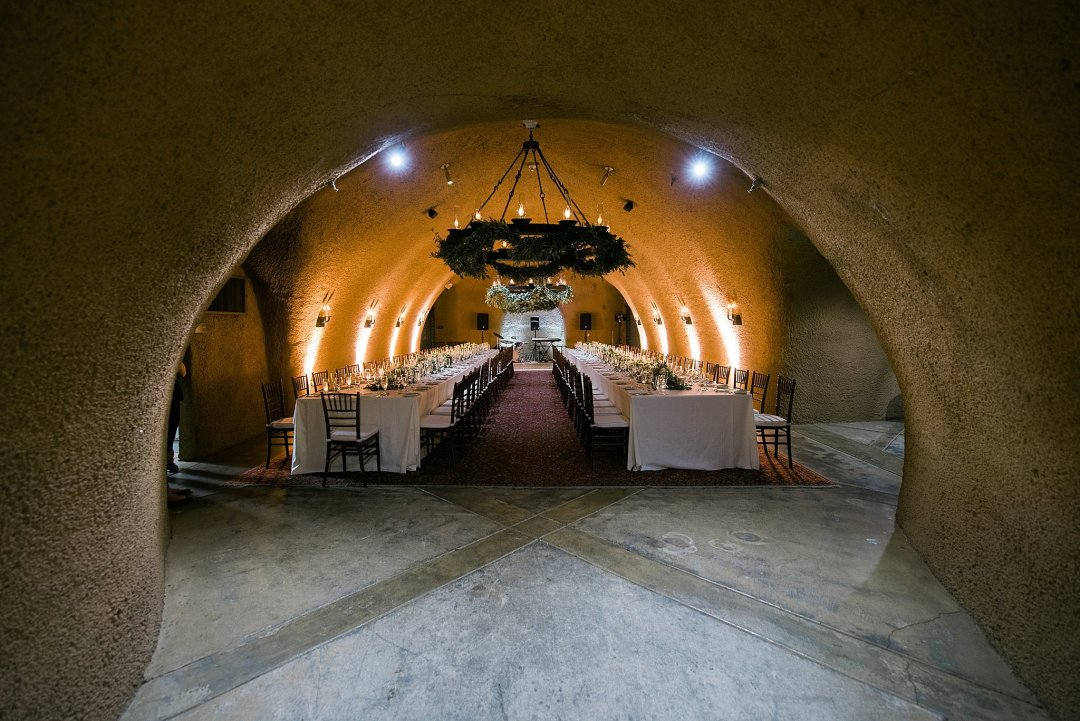 Calistoga Ranch Napa Wine Cave Reception