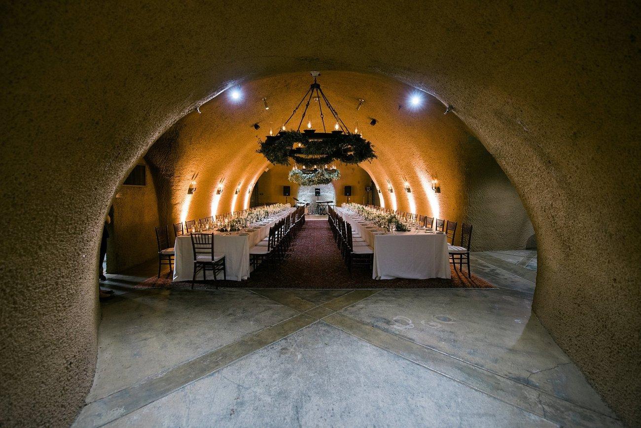 Calistoga Ranch Napa Wine Cave Reception