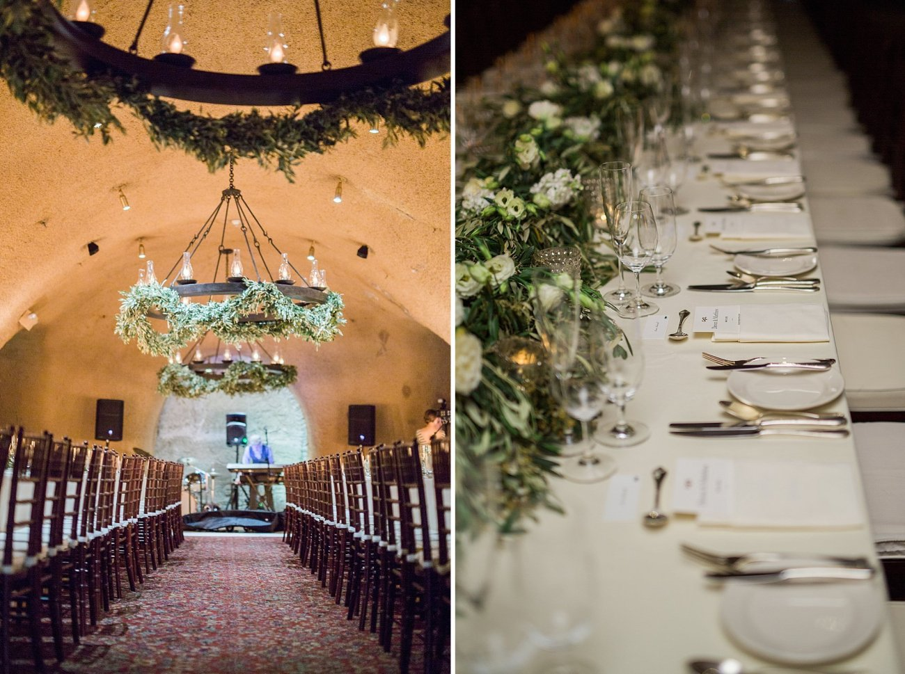 olive leaf wedding decor