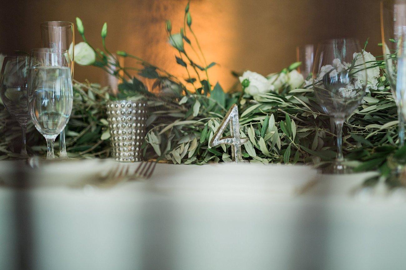 Olive rosemary and peony wedding