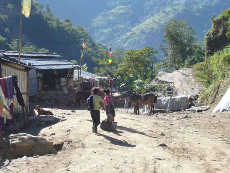 A village along the Annapurna Trek in Nepal