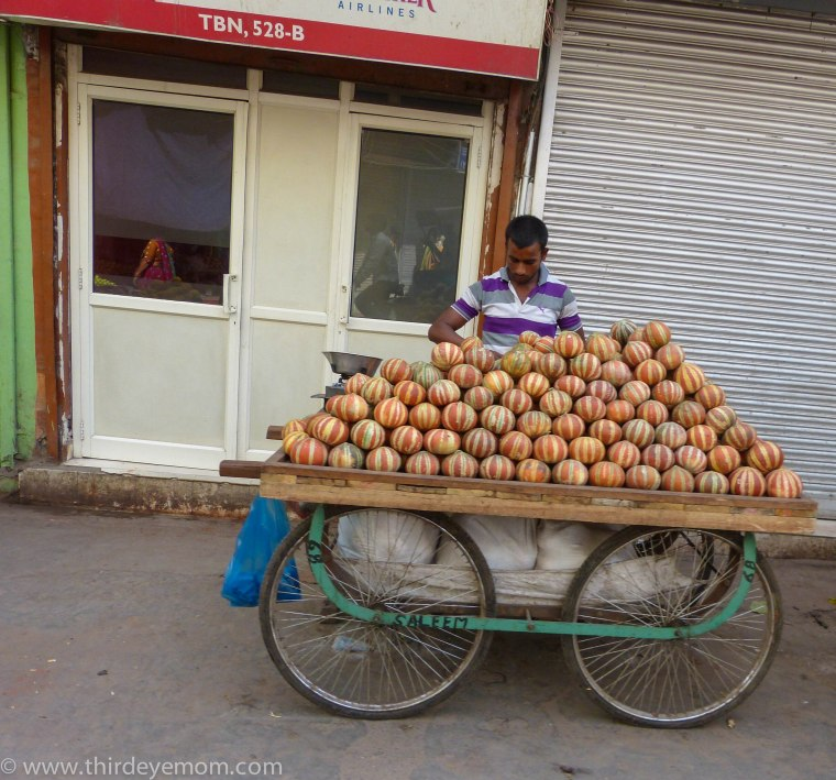 Street vendor in Delhi, India