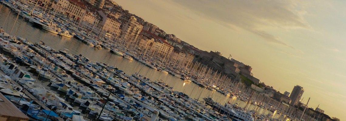 Vieux Port at Sunset.