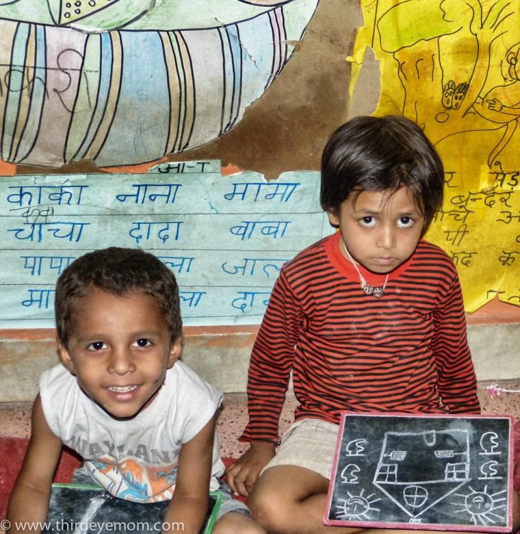 Children at Pratham in Delhi, India