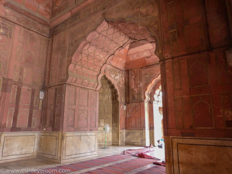 Inside the Jama Masjid