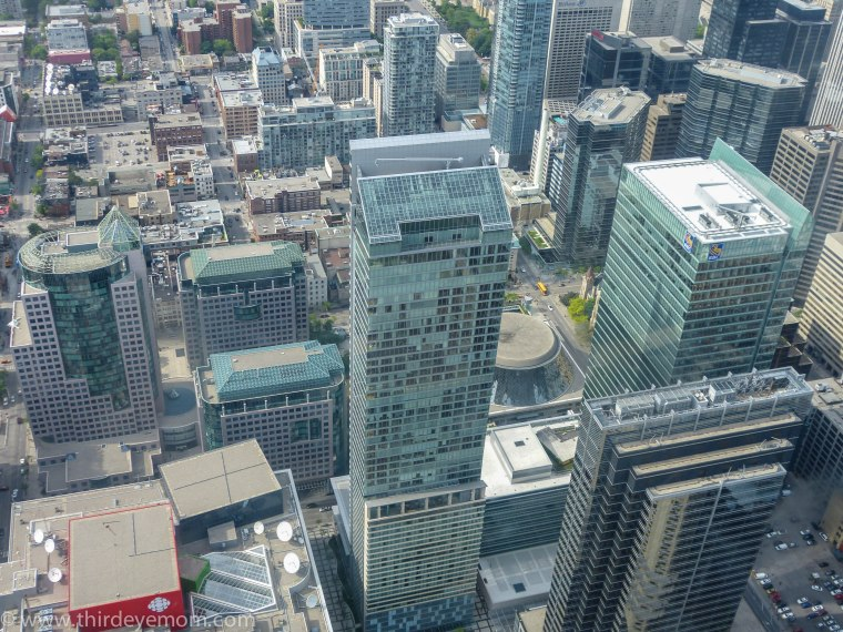 View from CN Tower Toronto