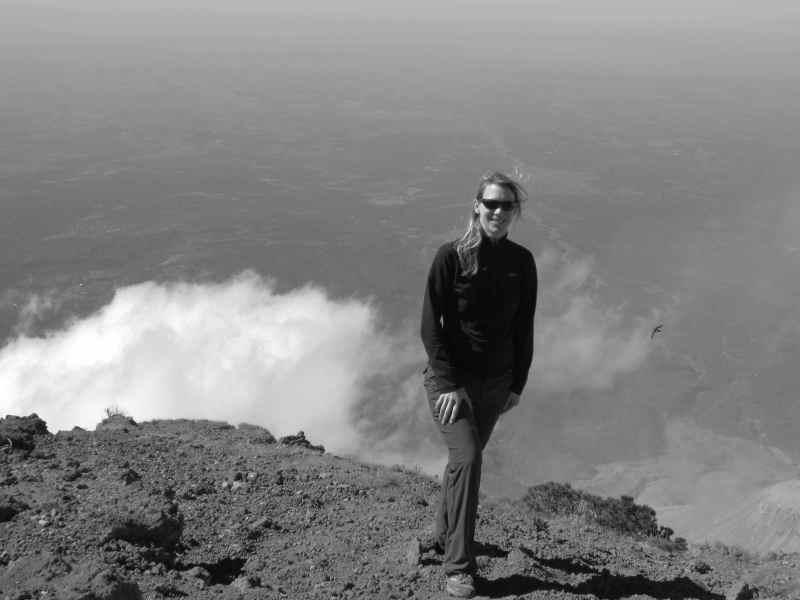 On top of Santa Maria Volcano in Guatemala