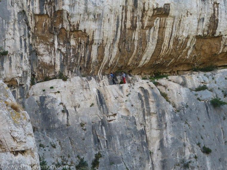 Rock climbing along the calanques