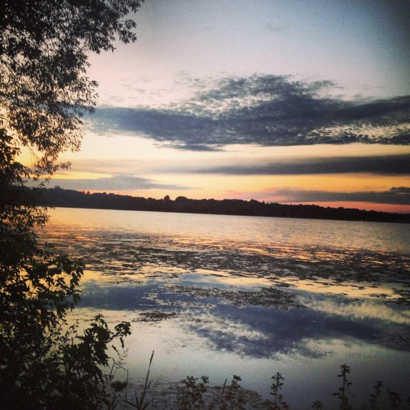 Sunset over Lake Harriet, Minneapolis