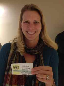 Photo of me proudly displaying my UN Panel Badge