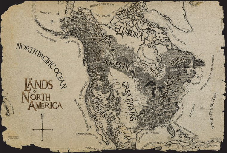 The Lands of North America by Doug Crews-Nelson