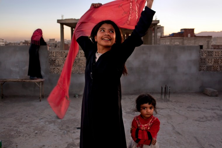 "The National Geographic exhibit ""Women of Vision.""Nujood Ali stunned the world in 2008 by obtaining a divorce at age ten in Yemen, striking a blow against forced marriage. Photo by Stephanie Sinclair/National Geographic"
