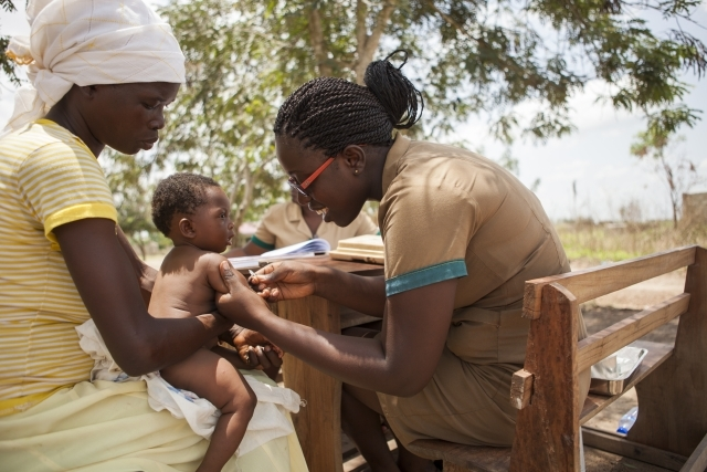 Agordiebe, Ghana, 2013 Hanna Konadu is one of thousands of community health workers in Ghana, where immunization coverage is higher than 90 percent.Photo Credit: Gates Foundation