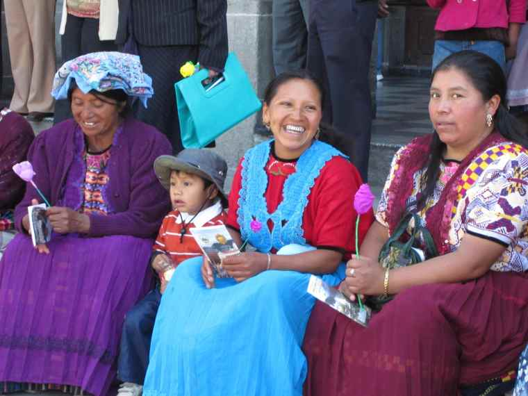 Family in Guatemala.