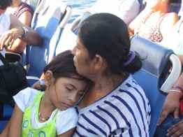 Grandmother and granddaughter in Honduras.
