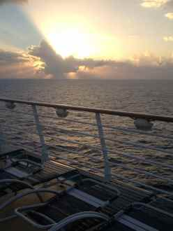 Sunset over the Sea on the Royal Caribbean