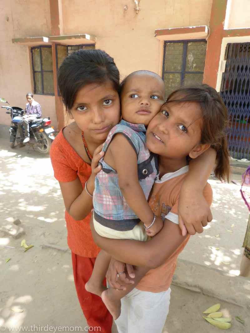 Siblings in India.