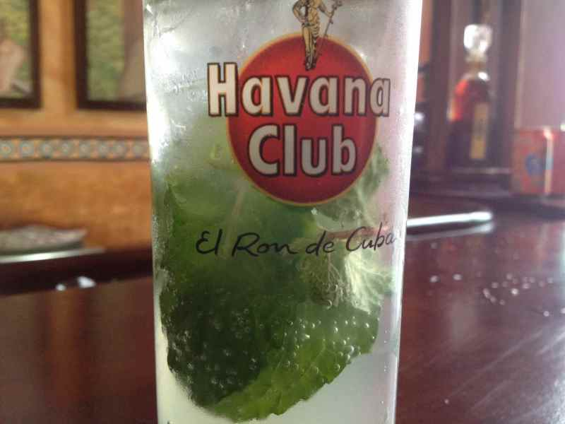 Havana Club is the rum of Cuba and mojitos are the favorite drinks.