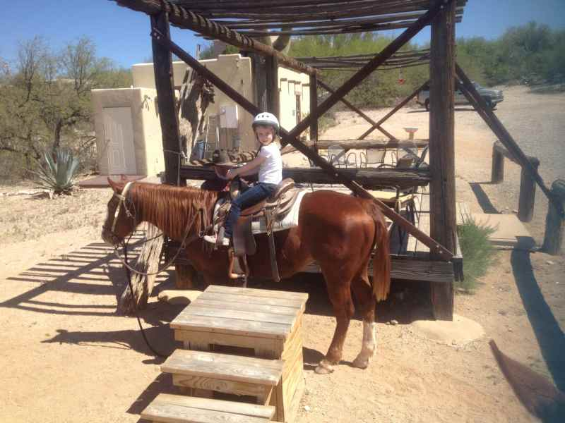 Sophia's first time horseback riding!