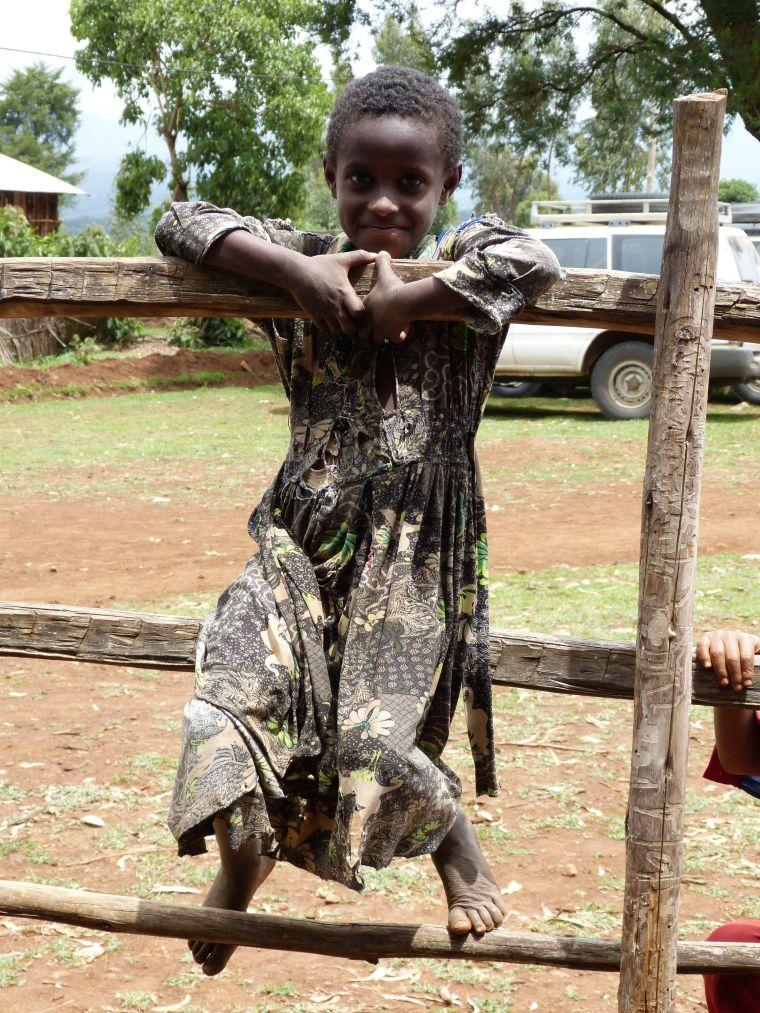 Girl in Mosebo Village Ethiopia