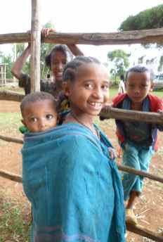 Children at Mosebo Village, Ethiopia