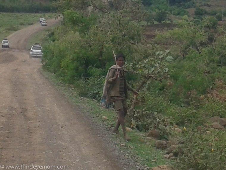 Driving in rural Ethiopia