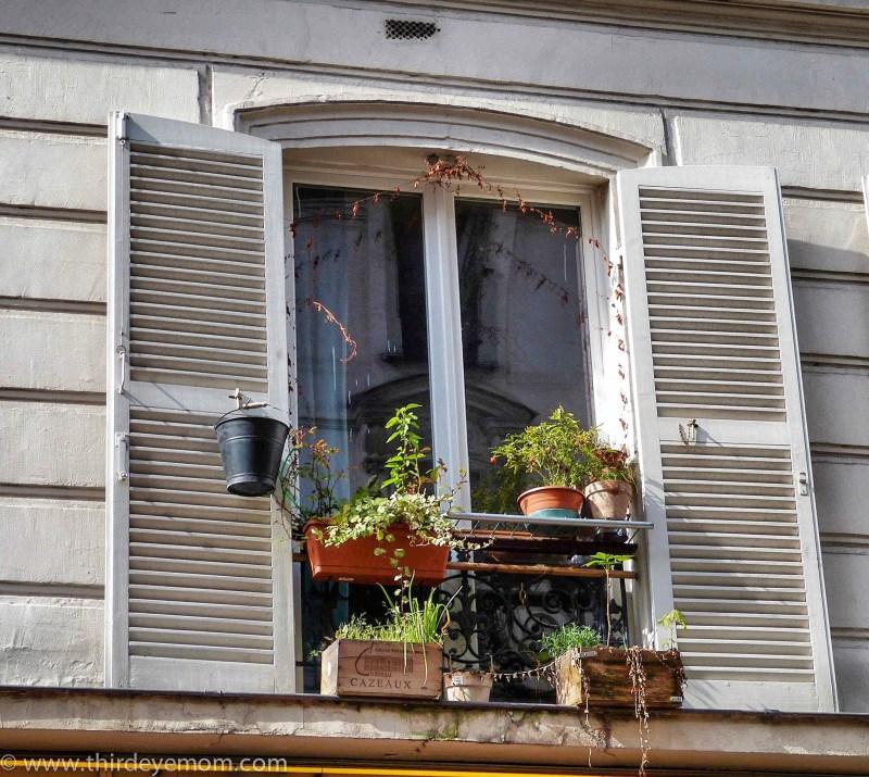 French windowsill